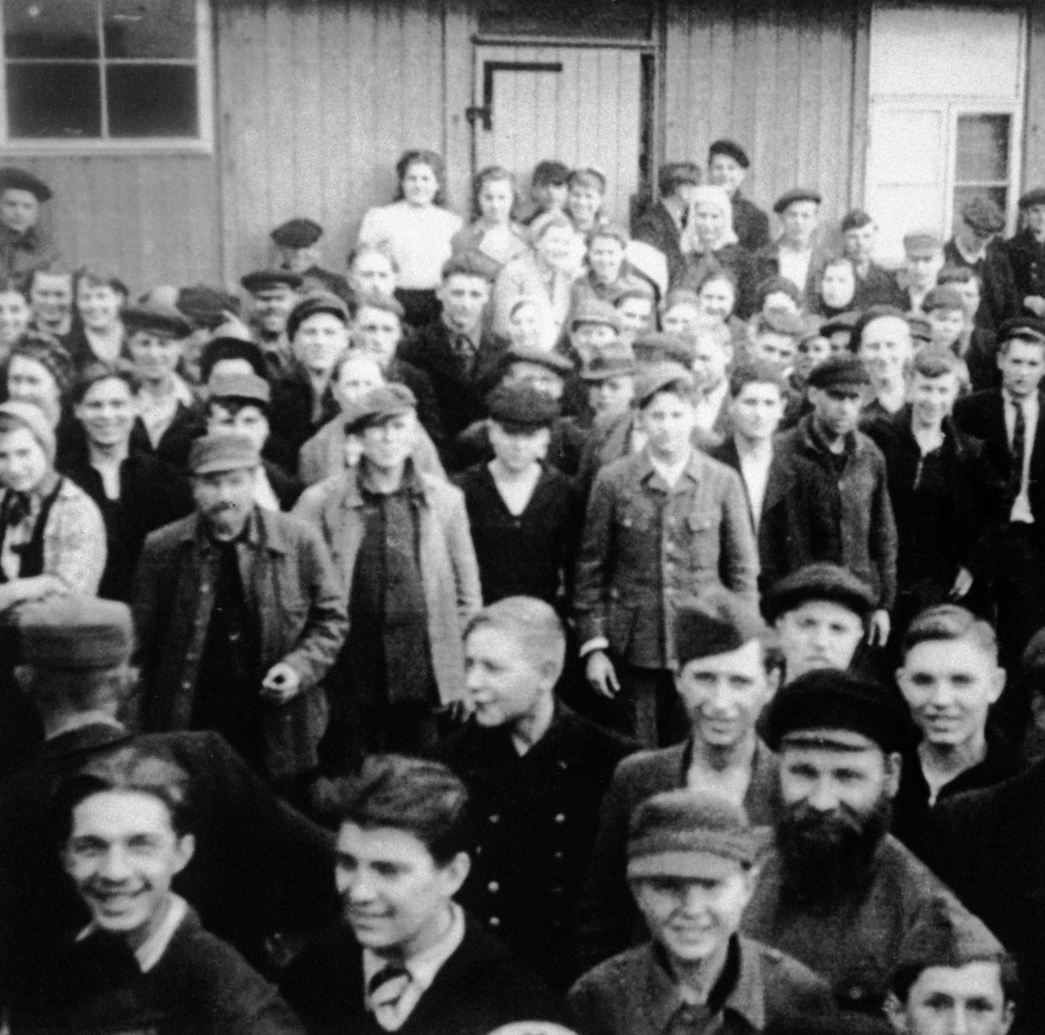 Soviet forced laborers following their liberation.