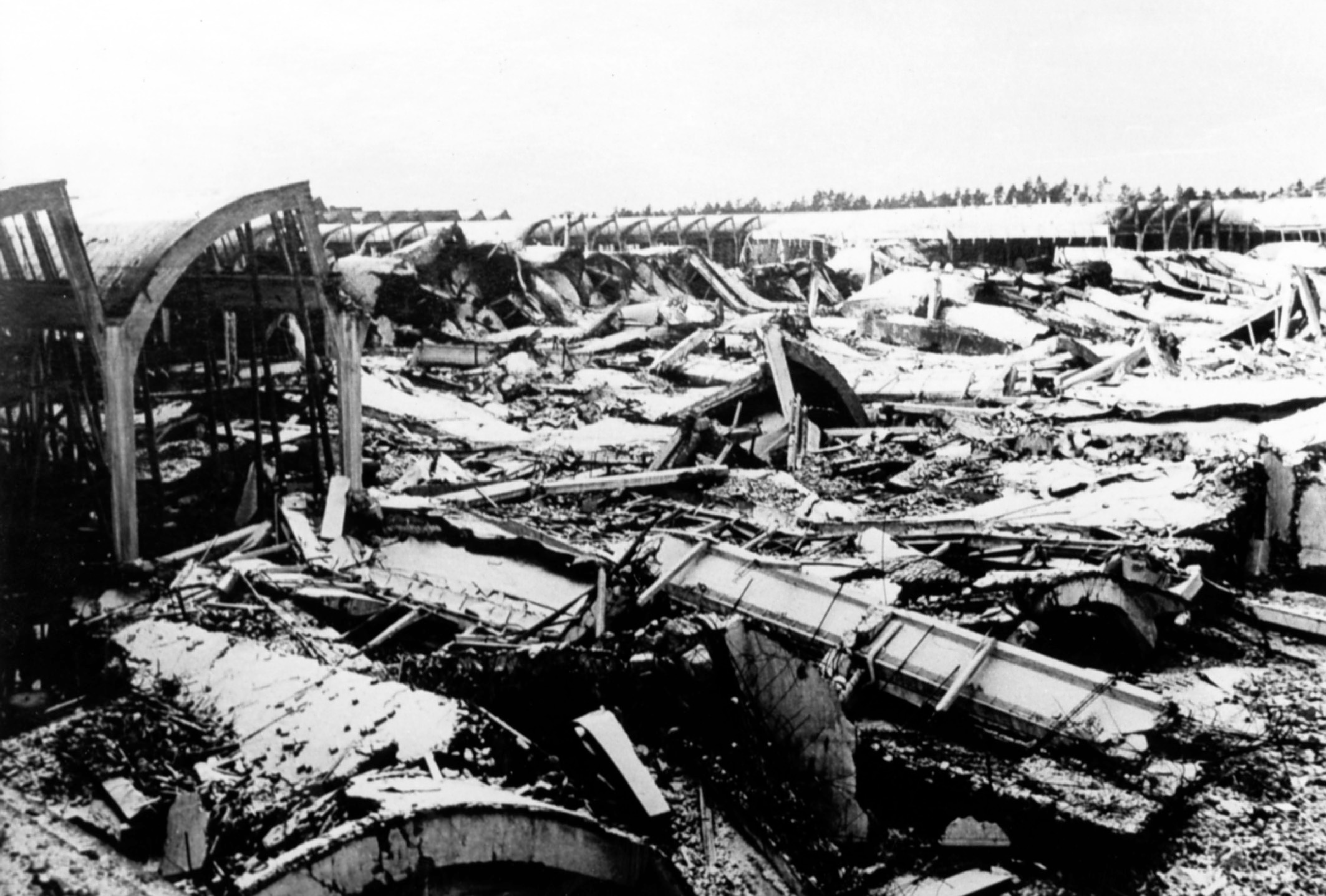 The Volkswagen plant had been largely destroyed by air raids in 1944.